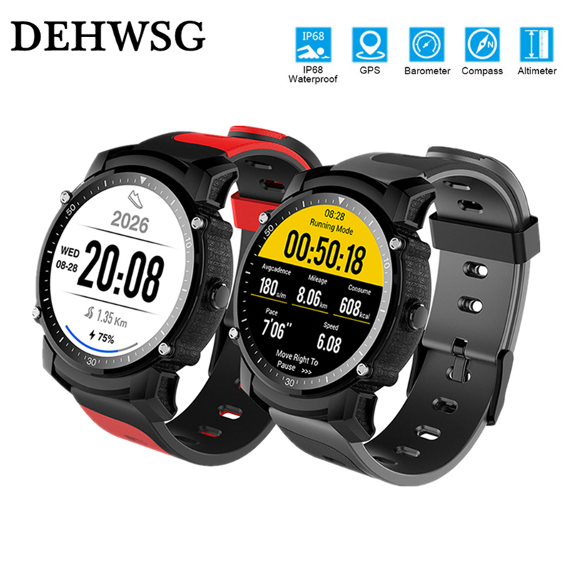 DEHWSG IP68 Waterproof Smart Watch Bluetooth Heart Rate Monitor Fitness Tracker Multi-mode Sport GPS Smartwatch For IOS Android