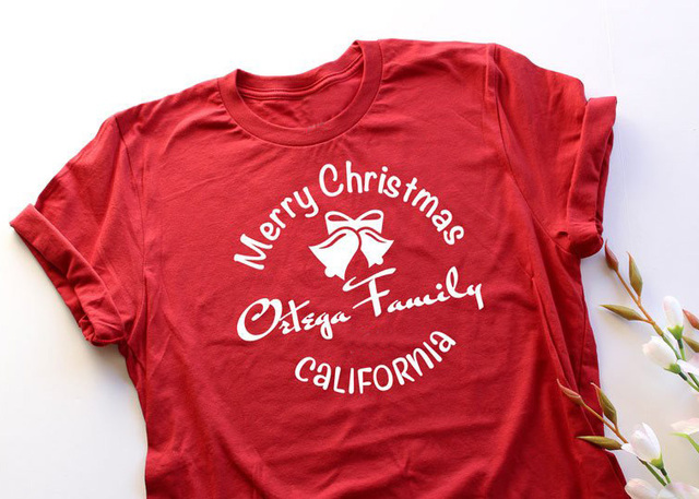 c66e6c07ef Family Christmas T Shirts Holiday Gift Idea Unisex Tee Family Reunions  slogan graphic bell red cotton