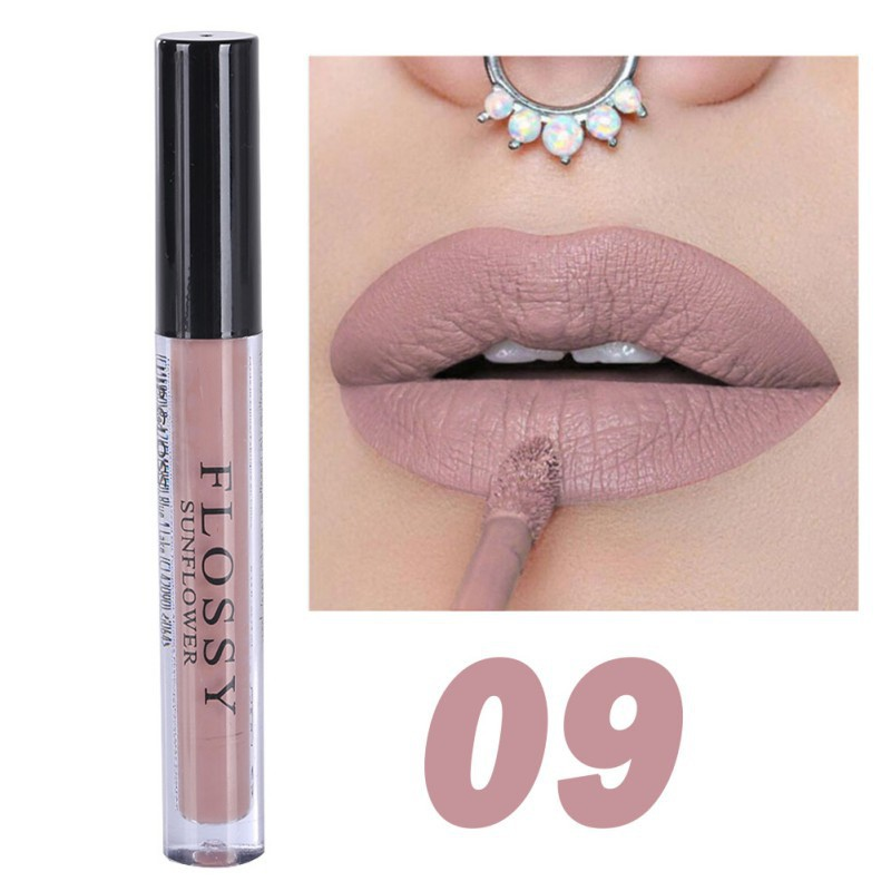1pcs Women Makeup Waterproof Batom Tint Lip Gloss Red Velvet True Brown Batom Matte Lipstick 21