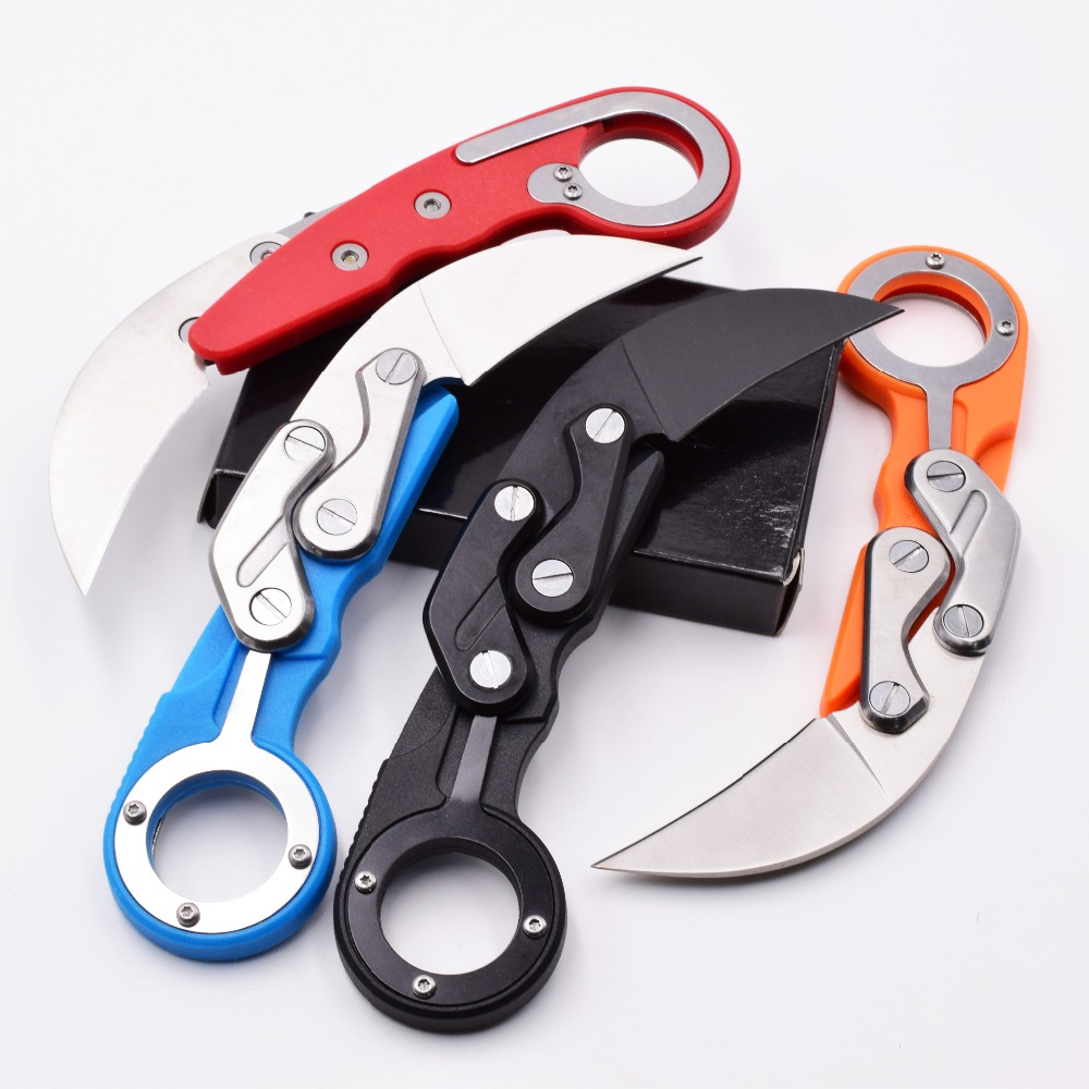 CS GO Mechanical Claw Knife Outdoor Survival Combat Karambit Hunting Knives Tactical Pocket Camping ring Knife Mini EDC Tool OEM in Knives from Tools