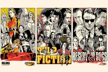 4-size canvas fabric poster print movies Kill Bill Pulp Ftion drawings Reservoir Dogs Living room home wall decoration EX003