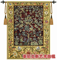 William Morris Tree Of Life Red Extra Large Art Tapestry Wall Hanging Home Decorative Textile Aubusson