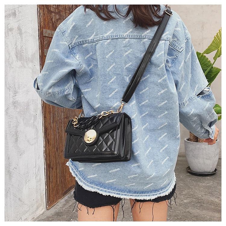 Women's Designer Luxury Channels Bags Shoulder Handbag for Women Quilted Leather Crossbody Flap Bag Fashion PU Lock Tote Handbag (16)