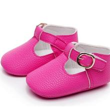 Hot sale Newborn baby moccasins PU Leather baby girl