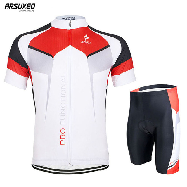 f4ceb8cca ARSUXEO Men s Cycling Jersey Short Sleeves Mountain Bike Bicycle clothing  MTB Shirts Wear ZSSO7X