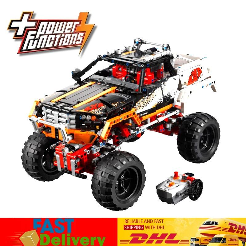 Lepin 20014 1386PCS Technic 4X4 Crawler Truck Four-Wheel Drive Off-road Vehicles Building Blocks Toy Compatible Legoings 9398 конструктор lepin technic монстр трак 4x4 crawler 1605 дет 20011