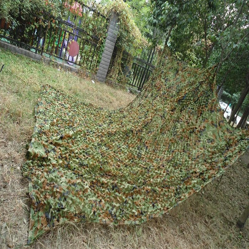 Camouflage Netting Hunting Military Woodland Digital Hunting Camo Net Without Edge Binding And Mesh Sun Shelter Car CoveringTent
