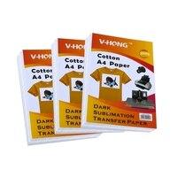 A4 T shirt sublimation cotton paper V HONG brand Dark textil heat transfer paper / transfer paper