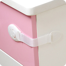 5PCS Textile Belt Plastic Buckle Multifunction Safety Lock of Drawer / Cupboard / Fridge / Toilet / to Protect Infants Children