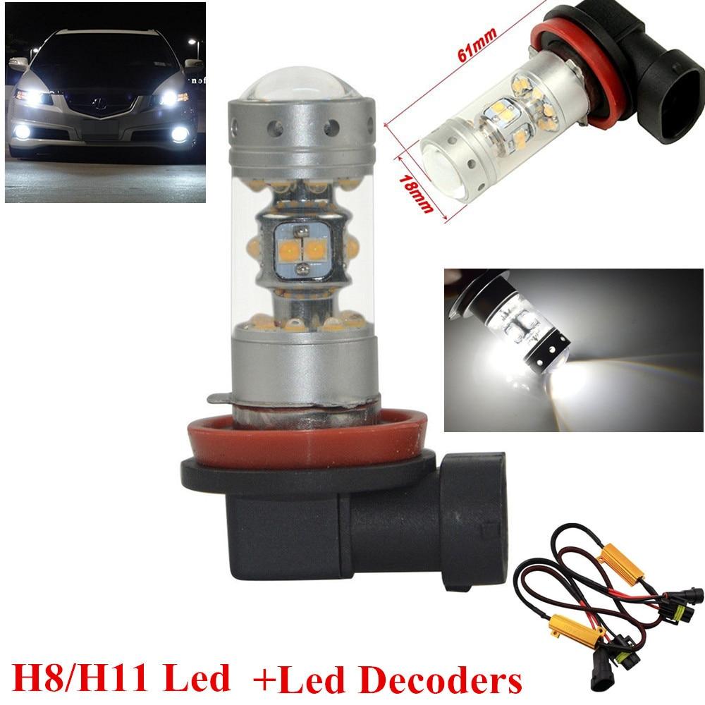 Car Fog Lamp Sensible 2x Canbus Blanco H11 H8 28 Leds Cree/sharp Chips 1200lms Bombillas Led Faro Antiniebla Para For Audi A3 A4 A5 S5 A6 Q5 Q7 Tt Modern Design Automobiles & Motorcycles