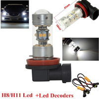 2X CANBUS BLANCO H11 H8 28 Leds CREE Sharp 1200LMS BOMBILLAS LED FARO ANTINIEBLA PARA For