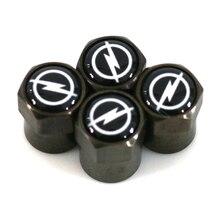 Car-styling Carbon black car Tire Valve Caps case for OPEL Corsa Insignia Astra Antara Meriva Zafira accessories 4pcs/set