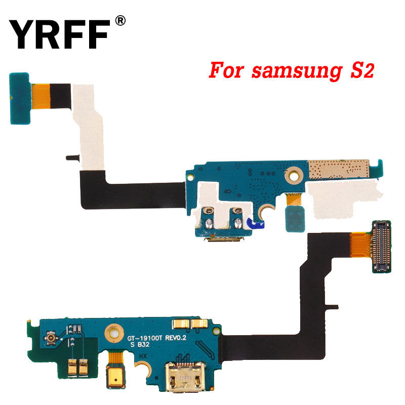 YRFF A+++ Dock USB Port Charging Connector Flex Cable For Samsung Galaxy S2 I9100 GT-i9100 USB Part Flex Cables With Microphone
