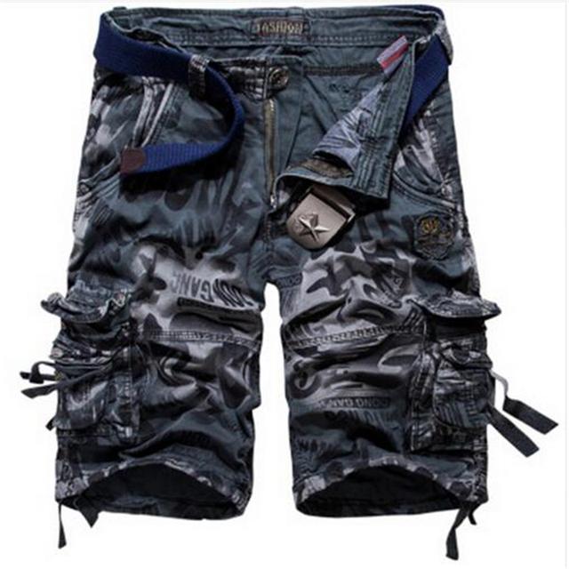 Camouflage Cargo Shorts Dark Grey