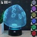 HUI YUAN Enchufe Luz de La Noche 3D RGB Cambiable Mood Lamp LED decorativa lámpara de mesa de luz dc 5 v usb conseguir un free remote controlador