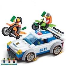 GUDI Police Chase Car Action Model Building Blocks Sets 158Pcs Bricks Classic Lepin Educational Toys Gifts