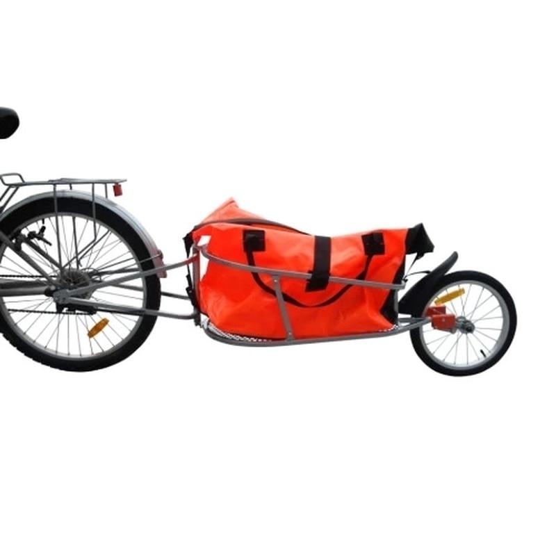 Reboque de bicicleta Única Roda Bagagem Dobrável 16 Polegada Impulsor Rígida Estrutura Totalmente-suspensão Do Eixo Traseiro Única Roda Do Reboque