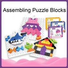 DOLLRYGA 98pcs DIY Puzzle Sorting Bricks Set lote Learning Educational jouet enfant Toy for Children Building Kit Plastic
