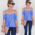 2016 New Fashion Women Summer Vest Top Flouncing Shirt Blouse Casual Tops