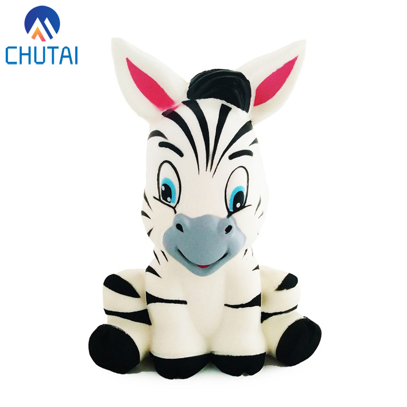 New Zebra Horse Cute Squishy Slow Rising Jumbo Animal Soft Scented Squeeze Toy Charms Cake Bread Kid Antistress Toys 13*8CM image