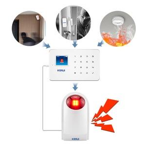 Image 4 - KERUI проводная сирена, наружная стробоскопическая вспышка, умный дом, сигнализация для беспроводной системы сигнализации, безопасность