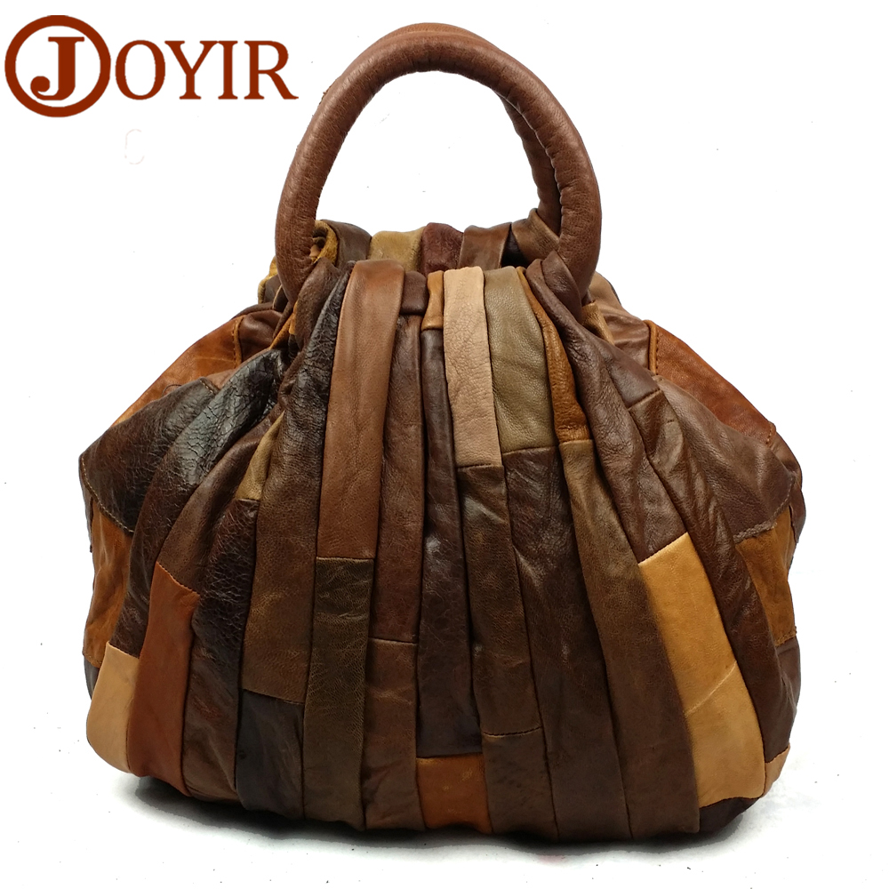 JOYIR Ladies Shoulder Bags Genuine Leather Bag Female Vintage Patchwork Women Messenger Bag Women's Handbag Bolsas Femininas joyir fashion genuine leather women handbag luxury famous brands shoulder bag tote bag ladies bolsas femininas sac a main 2017