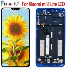 New Display Xiaomi Mi 8 Lite LCD Display Touch Screen 6.26 HD Digitizer Assembly Replacement Xiaomi Mi 8 Youth 8 Lite LCD lcd display screen replacement fo prestigio multipad 8 0 hd pmt5587 wi tablet lcd display free shipping