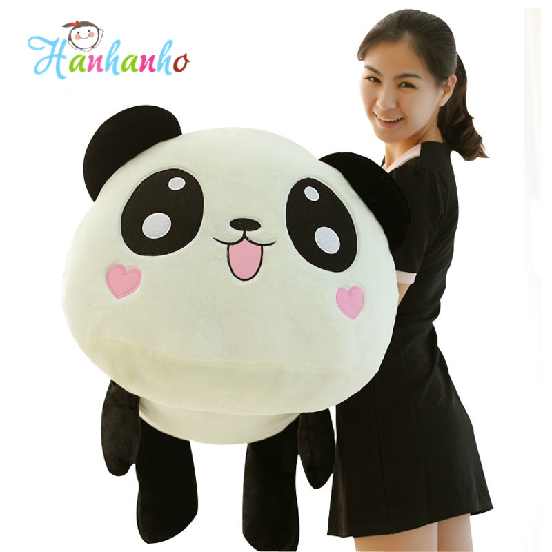Adorable Giant Panda Plush Toy Stuffed Animal Doll Children Cartoon Cushion Lovely Kid Pillow 40 30cm pusheen cat plush toys stuffed animal doll animal pillow toy pusheen cat for kid kawaii cute cushion brinquedos gift