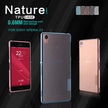 Original Nilkin TPU 0.6mm Ultra thin Phone Cases for Sony Xperia Z3 L55 Silicone Cover Crystal Case with Retail Package