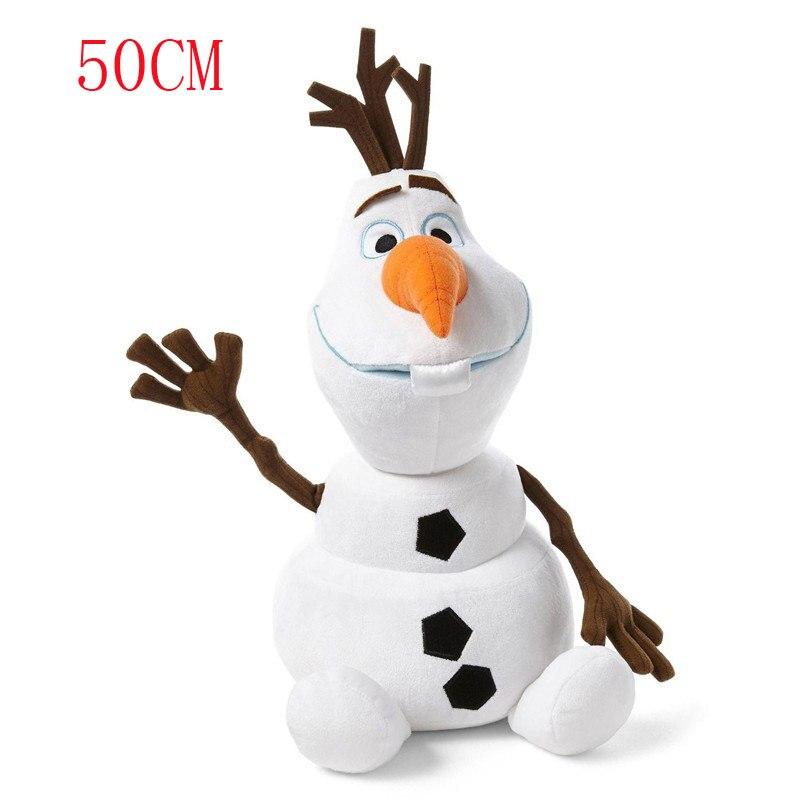 23 см/30 см/50 см Снеговик Плюшевые игрушки в виде Олафа Мягкие плюшевые куклы Kawaii мягкие животные для детей рождественские подарки - Цвет: 50cm Olaf