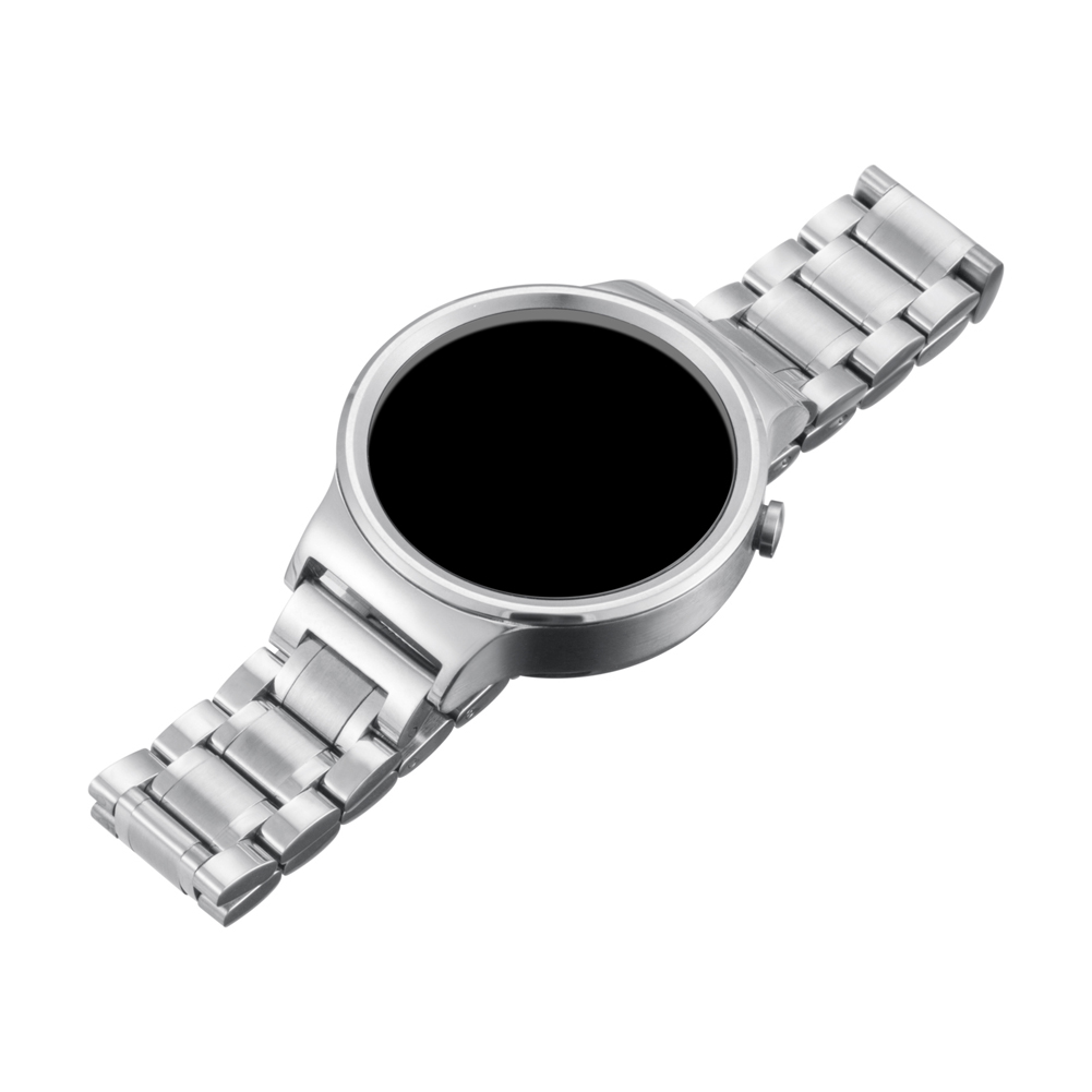 Quick Release Luxury Watchband Metal Straps For Huawei Smart Watch Black Stainless Steel 18mm Band