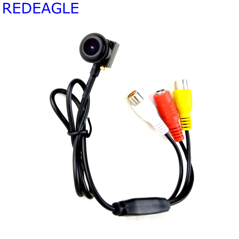 REDEAGLE 700TVL CMOS Mini CCTV Security Surveillance Camera 140 Degree Wide Angle Micro FPV Cameras Video Audio Out 205AV