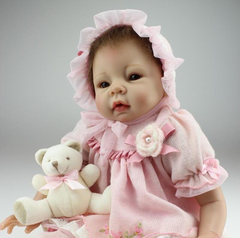 50-55cm Silicone Vinyl Reborn Baby Dolls Handmade Hobbies 100% safe Princess Doll Best Toys For Children Kids Birthday