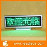 Comparar Verde 12x48 puntos Mini Led señal móvil multilingüe muestra luces peso recargable publicidad tablero de mensajes