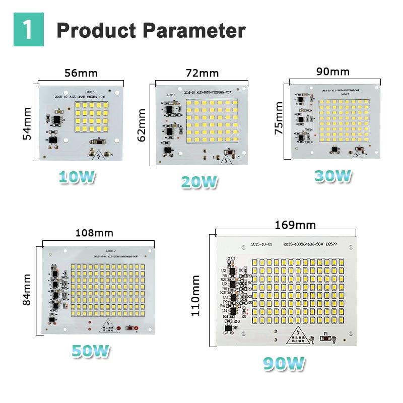 Smart IC SMD жарықдиодты шамдары 10W 20W 30W 50W - Жарықтандыру керек-жарақтары - фото 4