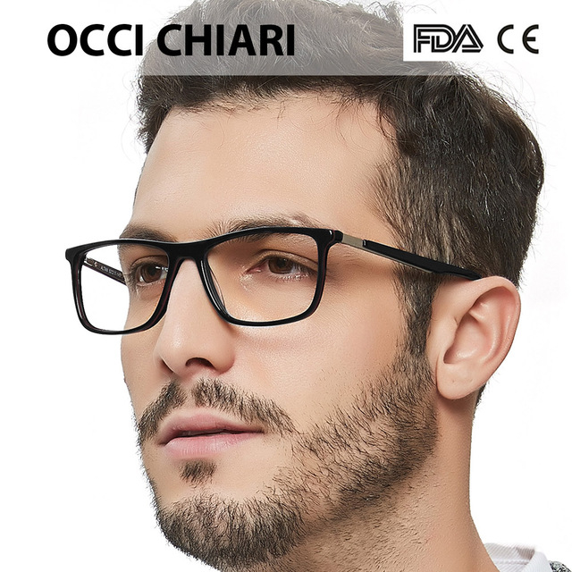 High Quality Acetate Retro Prescription Medical Optical Eye Frames Men Hand Made Glasses Frame Male black OCCI CHIARI W CANO
