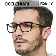 고품질 아세테이트 레트로 처방 의료 광학 눈 프레임 남자 손으로 만든 안경 프레임 남성 블랙 OCCI CHIARI W CANO