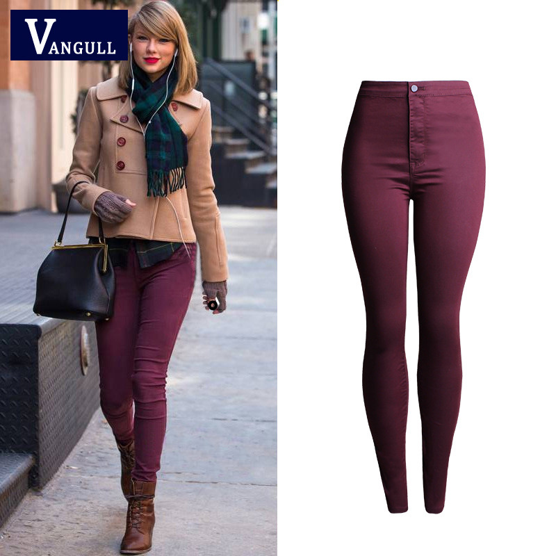 Popular Red Jeans Women-Buy Cheap Red Jeans Women lots from China ...