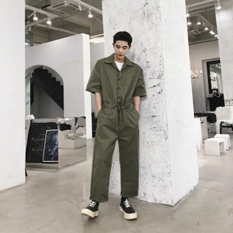 a04d777b7a5e Aliexpress.com   Buy Jumpsuit Overalls Men Black Conjoined Pants Mens  Romper Suit Streetwear Jumpsuit Cargo Tracksuits Male Set Man Playsuit Lt151  from ...