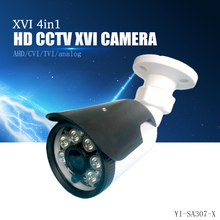ФОТО yiispo 4in1 ahd cvi tvi analog camera 720p 1080p bullet  outdoor waterproof infarad wide angle 3.6mm 6mm hd cctv cam