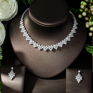 Image 2 - HIBRIDE Hot Selling Elegant Noble Clear Bright CZ Leaf Pendant White Color Charm Choker Necklace for Bridal Wedding N 1008