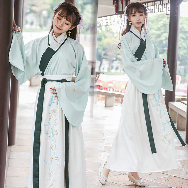 527ef8486 Summer Girls hanfu national costume ancient chinese cosplay Green costume  Ming dynasty fairy China women hanfu clothes lady
