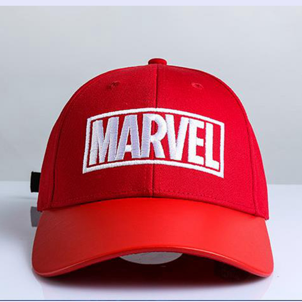 Avengers: Infinity War MARVEL Embroidered Pattern Hat Cosplay Costume Accessories Red Baseball Cap Halloween Christmas Hats Gift