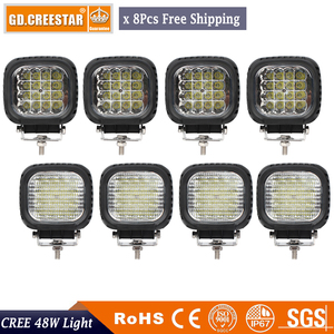 48Watts 5inch LED Work Lights Lamp Offroad Driving Fog for Truck car 4X4 Tractor ATV Jeep Spot Flood Beam 12V 24V x8pcs