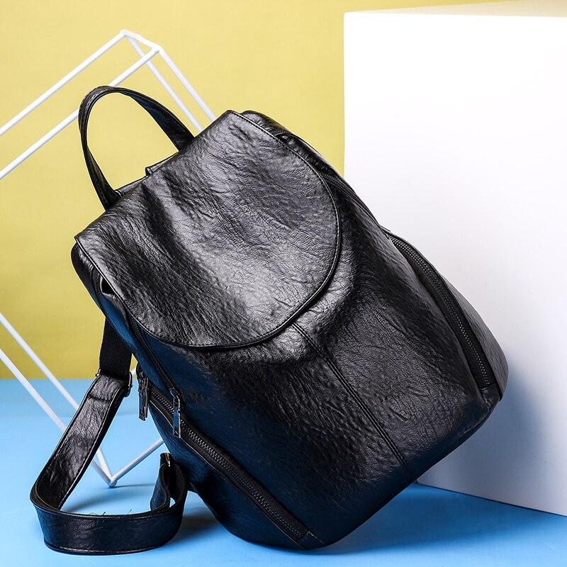 Fashion New Travel Bacpaok Korean Women Female Rucksack Leisure Student School Bag Soft Pu Leather Women Bag 226 #4