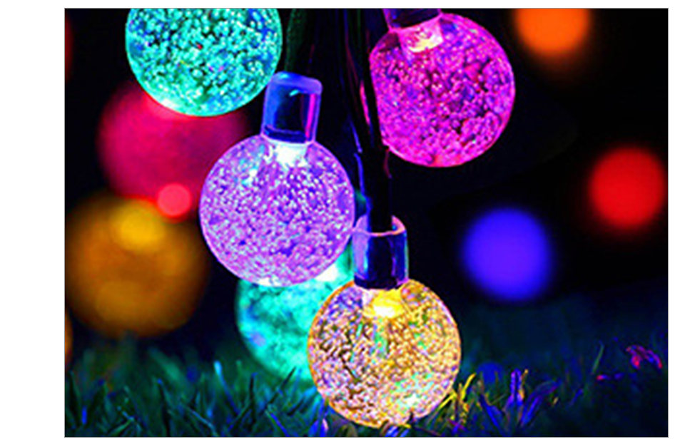 Solar LED String Lights Garland Outdoor 3050 LED Ball Hollow Christmas Trees Garden Party Decor String Fairy Light Ball Chain (13)
