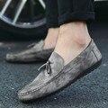 6 Colores de Los Hombres Zapatos de Los Planos de Charol Zapatos de Los Hombres de Los Holgazanes Slip On de La Borla de Mocasines de Hombres Que Conduce Los Zapatos Sapatos Masculino ZNPNXN