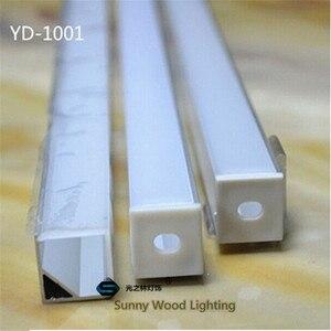 Image 4 - 10 40 adet 20 80m 80 inç, 2 metre/pc led alüminyum profil, 90 derece köşe profil 10mm PCB kartı led çubuk ışık
