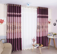 Latest High Grade Elegant Luxury Purple Embroidered Window Curtain for Living Room Thicken Blackout Cortina Shading Home Decor