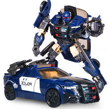 G1 Barricade HBM Transformation TF5 Police Car Action Figure Voyager Oversize Robot Model Toys In Stock цена 2017